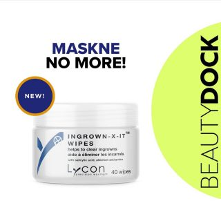 NEW PRODUCT ALERT 📢 Lycon Ingrown-X-IT Wipes 😍 ⬅️ Swipe left  How to use?  Simply wipe over the pre-cleansed skin of the face, neck, décolletage, underarms or bikini. For Daily Use. 🇮🇪 Shipped from Ireland  #beautydock #newproduct #maskne #masknenomore