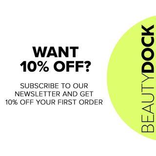 ɢᴇᴛ 10% ᴏꜰꜰ ʏᴏᴜʀ ꜰɪʀꜱᴛ ᴏʀᴅᴇʀ ᴡʜᴇɴ ʏᴏᴜ ꜱɪɢɴ ᴜᴘ ᴛᴏ ᴏᴜʀ ɴᴇᴡꜱʟᴇᴛᴛᴇʀ 😍 #beautydock #newsletter  #discount#subscribe