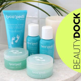 Mini Pedi@ Home Special Offer. 10% off Lycon Mini Pedi Kit 👣 It's easy to give yourself a mini pedicure @home with the Lycon MiniPediKit 💙  Here's how: 1. Soak - A purifyingfoot bath will gently clean and soften the skin 2. Sugar Scrub - Effectively exfoliates and removes dead skin without harsh scratching 3. Massage Lotion - Give your feet a nice relaxing and hydrating massage 4. Hydrating Mask - Hyaluronic Acid enriched creme-gel will rapidly hydrate and moisturise 5. Smoothing Cream - Premium blend of Hyaluronic Acid, Pro-vitamin B5, Vitamin E and Marine Collagen will leave your feet looking pretty, youthful & refreshed  🇮🇪 Shipped from Ireland  #beautydock #lycon #lycopedi #pedicure  #homepedi