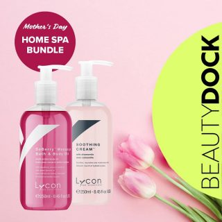Treat Mum to the best this Mother's Day ❤ Spoil her witha wonderful pampering experience. Lycon Home Spa Bundle will help her truly unwind and relax. Bundle contains: 💖 SoBerry Oil - A luscious strawberry scented multi purpose body oil, for all over body, foot or hand massage. Also scrumptious as a luxurious floating bath oil for a tired body, mind and soul. 💖 Soothing Cream: The ultimate moisturising body cream for dry and thirsty skin. 🇮🇪Shipped from Ireland Vegan | Cruelty Free | Gluten Free #mothersday #mothersdayireland #shedeservesit #mothersdaygift