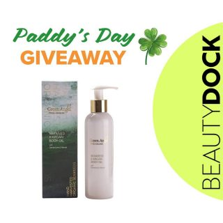 Happy St.Patrick's Day 💚 Let's celebrate it with amazing #irishmadeGIVEAWAY🥳🇮🇪🍀 We are giving away one of our G @greenangelskin Seaweed Body Oil 😍 To enter follow a few simple steps: 1. MUST FOLLOW Beauty Dock 2. LIKE the image and tag 2 friends 3. SHARE this image on your Insta story for a bonus entry  Winner will be announced on Monday 22nd of March 🏆 May the luck of Irish be with you! 🍀 Note: Valid for Ireland and Northern Ireland only. #beautydock #giveaway #patricksday #irish #irishmade #irishcompany #proudlyirish #irishluck